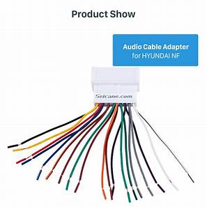 Auto Car Wiring Harness Audio Cable Adapter For Hyundai Nf