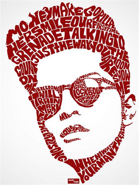 amazing typography portraits created with song lyrics my modern met