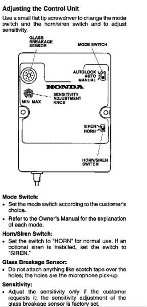 security system 1983 honda accord on board diagnostic system service manual how to disconnect the alarm system on a 1988 mitsubishi truck 95 accord
