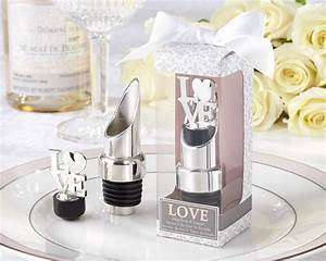 love pourer and bottle stopper wedding favor by kate aspen With wedding favor bottle stopper