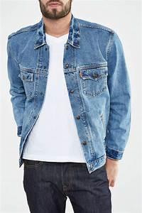 Jean Levis 501 Homme : levi 39 s blouson en jean levi 39 s orange tab trucker bleu ~ Melissatoandfro.com Idées de Décoration