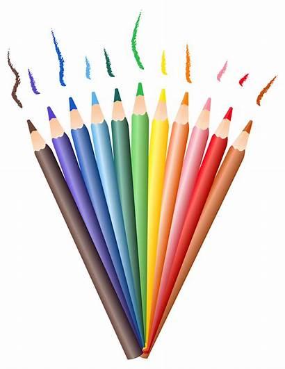 Pencil Pencils Transparent Clipart Colored Drawing Clip