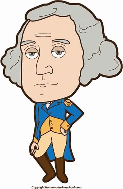 Washington George Clipart President Cartoon Clip There