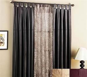 door window treatments black curtains : Fabulous Ideas
