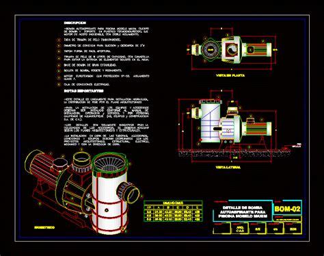 pool pump dwg detail  autocad designs cad