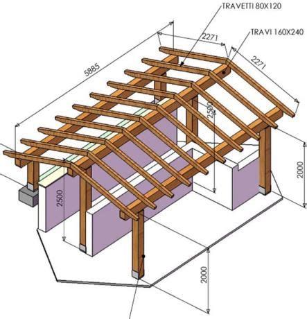 Tettoia In Legno Progetto progetto tettoia in legno con portico in legno lamellare