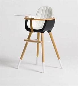 Chaise Haute Bébé Design : chaise haute pour enfant micuna ovo noire avec coussin blanc ~ Teatrodelosmanantiales.com Idées de Décoration