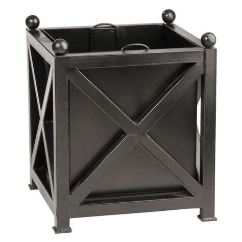 Black Square Planter Box by Napa 20 In Square Black Galvanized Planter 66000bgp
