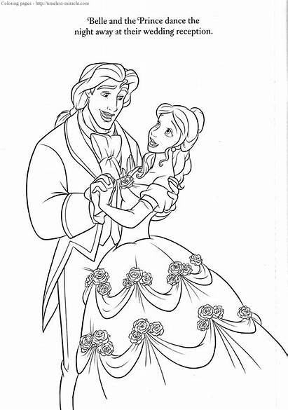 Coloring Disney Pages Beast Beauty Printable Cake