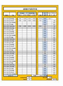 überstunden Berechnen Excel Vorlage : arbeitszeitnachweis vorlagen office ~ Themetempest.com Abrechnung