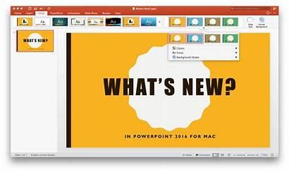Powerpoint Mac Microsoft 365 Theme Options Presentation