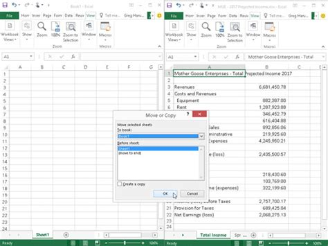 how to move worksheets to other workbooks in excel 2016 dummies