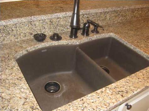kitchen sinks for granite countertops granite stainless steel sink 8588