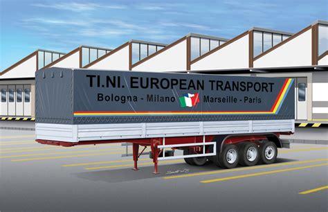 1 24 classic curtain side trailer italeri 3908 model kit