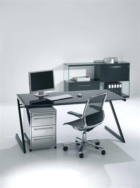 bureau acier et verre bureau professionnel design en verre et acier zeolith