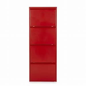Rangement Chaussures Alinea : meuble rouge ~ Teatrodelosmanantiales.com Idées de Décoration
