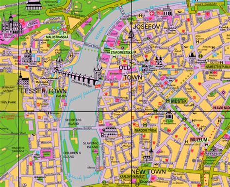 prague map maps  prague