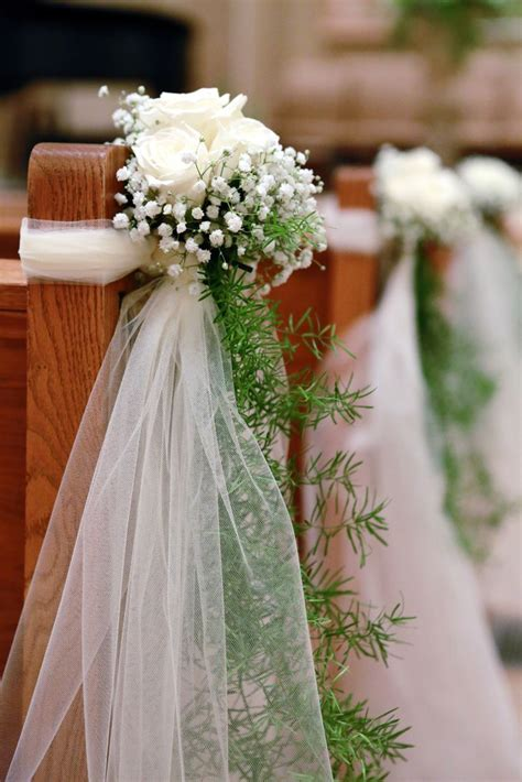Cost Effective Church Pew Décor Babys Breath With Blush