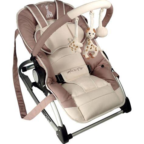siege auto renolux transat bébé balancelle spirit la girafe de renolux