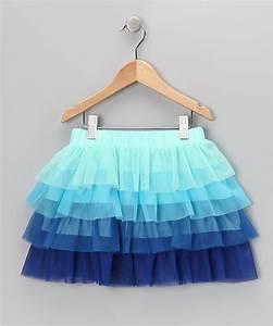 Dolce Liya Blue Tiered Ruffle Skirt - Girls | Kid Mom and Babies