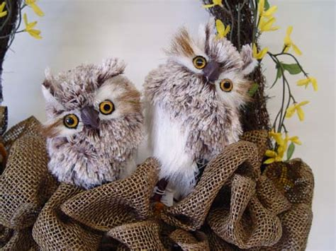 new feathered owls from raz trendy tree blog holiday