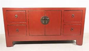 Meuble Chinois Rouge : buffet bas chinois galerie art moderne et contemporain ~ Teatrodelosmanantiales.com Idées de Décoration