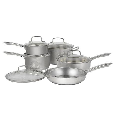 cookware walmart canada cuisinart stainless steel 10pc sets ramsay gordon