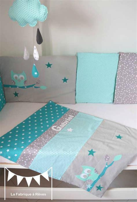 chambre bebe vert d eau couverture bébé turquoise vert d 39 eau mint hibou étoiles