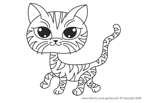 kitten coloring pages    kids cute house