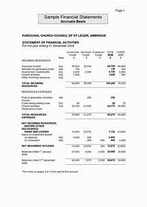 Small Church Financial Statement Template Church Financial Statements Template Smart Business