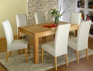 Esstisch Stühle Beige : tischgruppe kernbuche tisch tobiah 140 220 x90 6 st hle robin beige wohnbereiche esszimmer ~ Markanthonyermac.com Haus und Dekorationen