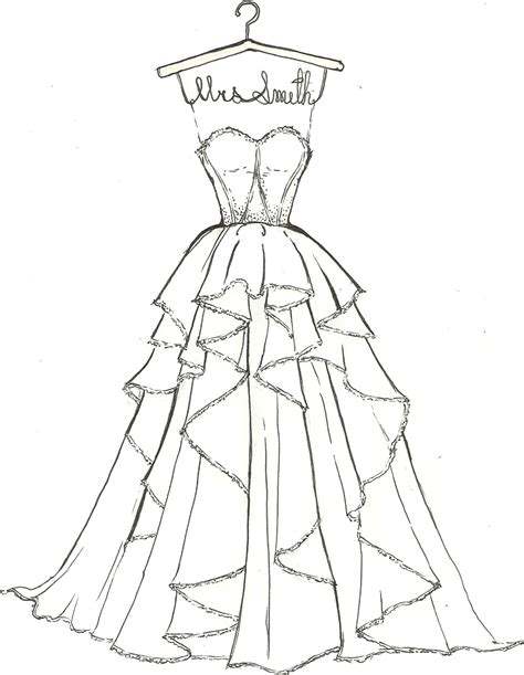 Of Wedding Dresses Free Coloring Pages On Art Coloring Pages
