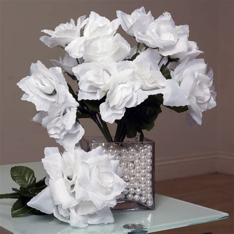 silk open roses wedding flowers bouquets wholesale