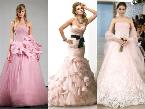 Wedding Dresses With A Touch Of Color!
