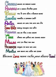 Disney Princess Poem: i saw this online and recreated it ...