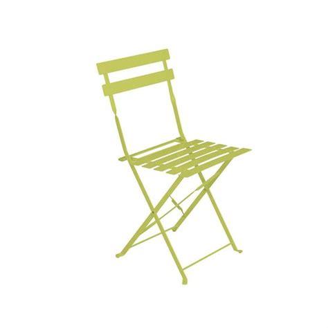 chaise de jardin aluminium chaise de jardin métal pliante camargue verte achat