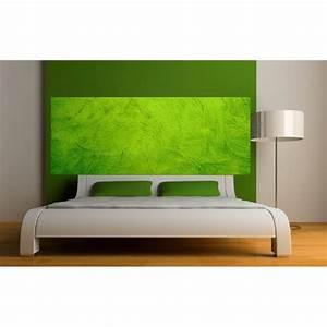 Fond De Lit : papier peint t te de lit fond vert art d co stickers ~ Teatrodelosmanantiales.com Idées de Décoration