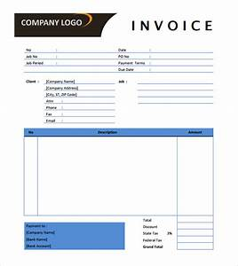 advertising invoice template agency printable word With marketing invoice example