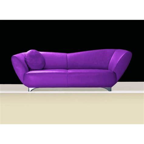 canapé cuir ou tissu mino 2 2 5 ou 3 places violet