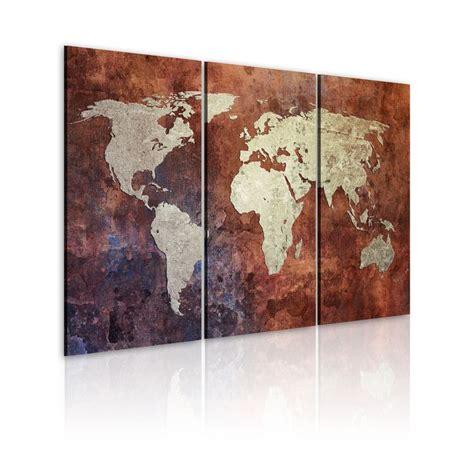carte de murale grand format grand format impression sur toile images 3 carte du monde tableau 020113 35