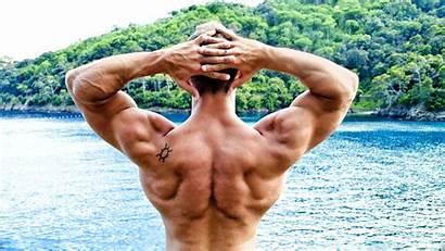 Bodybuilder Muscle 4k Wallpapers Muscular Bodybuilding Sea