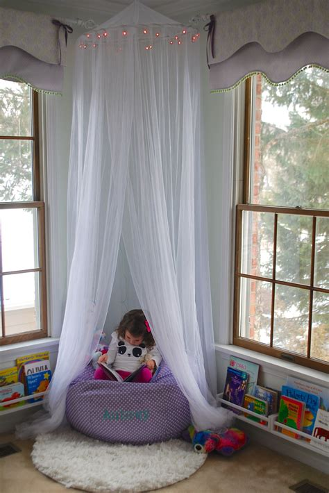 princess reading nook ikea spice racks  books bed