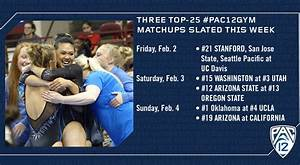 Three top-25 #PAC12GYM matchups slated this week | Pac-12