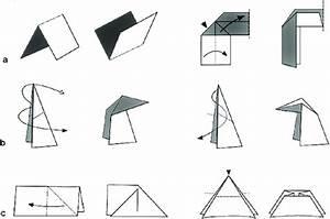 Origami Folds   A   U0026 39 Mountain Fold U0026 39    U0026 39 Valley Fold U0026 39    U0026 39 Swivel