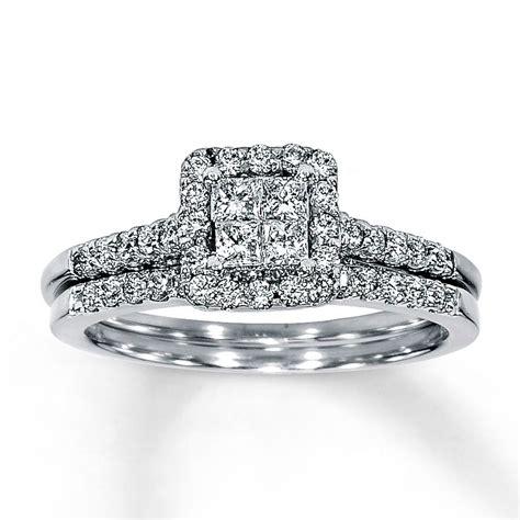 jared diamond bridal set 5 8 ct tw 14k white gold
