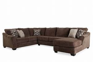 three piece contemporary 101quot sectional in dark brown With 3 piece brown sectional sofa
