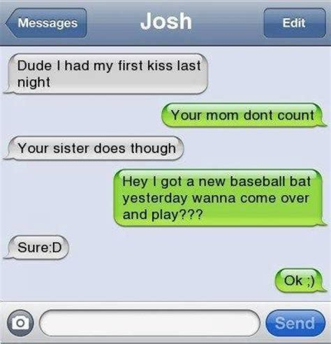 Funny Text Memes - funny text first kiss jokes memes pictures