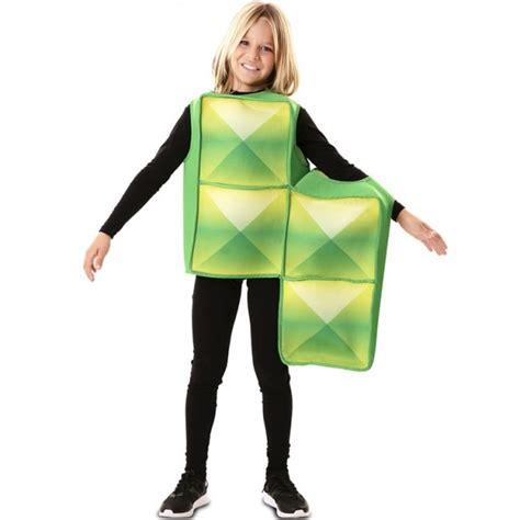 Disfraz Tetris Verde para Niños【Envío en 24h】
