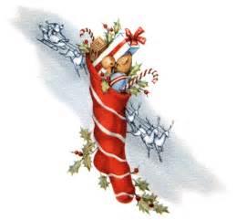 Vintage Christmas Stocking Clip Art