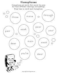 homophones images worksheets spelling